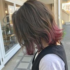 外ハネ ストリート ボブ ゆるふわ ヘアスタイルや髪型の写真・画像