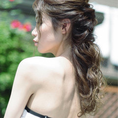 エレガント 上品 結婚式 花嫁 ヘアスタイルや髪型の写真・画像