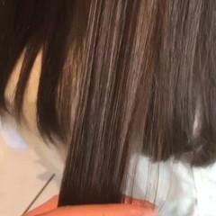 イルミナカラー ナチュラル セミロング 艶髪 ヘアスタイルや髪型の写真・画像