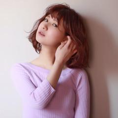 ピンク 色気 ベージュ ロング ヘアスタイルや髪型の写真・画像