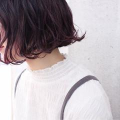 大人かわいい ピンク ピンクアッシュ ボブ ヘアスタイルや髪型の写真・画像