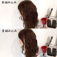 ショート セミロング ガーリー 簡単ヘアアレンジ ヘアスタイルや髪型の写真・画像
