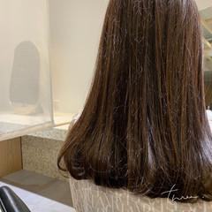 デジタルパーマ ナチュラル ロング ワンカールパーマ ヘアスタイルや髪型の写真・画像
