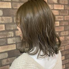 透明感 ミディアム N.オイル 切りっぱなしボブ ヘアスタイルや髪型の写真・画像