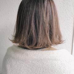 ハイライト 外ハネボブ ボブ ショートボブ ヘアスタイルや髪型の写真・画像