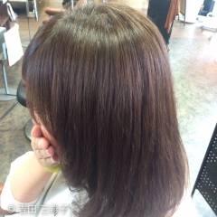 アッシュベージュ ミディアム ハイライト 清楚 ヘアスタイルや髪型の写真・画像