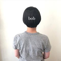 切りっぱなしボブ ヘアオイル ショートボブ ショート ヘアスタイルや髪型の写真・画像