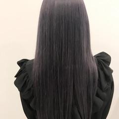 ブルー グレージュ パープル ガーリー ヘアスタイルや髪型の写真・画像