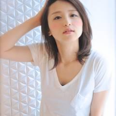 コンサバ ミディアム 愛され 大人かわいい ヘアスタイルや髪型の写真・画像