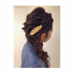 結婚式 コンサバ ルーズ ロング ヘアスタイルや髪型の写真・画像
