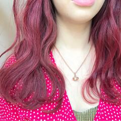 夏 ハイトーン レッド ストリート ヘアスタイルや髪型の写真・画像
