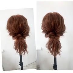 女子会 セミロング ショート ヘアアレンジ ヘアスタイルや髪型の写真・画像