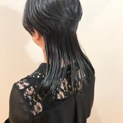 モード ロング レイヤーカット ヘアスタイルや髪型の写真・画像