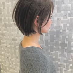 ショートボブ ナチュラル ショート 大人女子 ヘアスタイルや髪型の写真・画像
