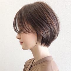 大人ショート 大人かわいい ナチュラル ショート ヘアスタイルや髪型の写真・画像