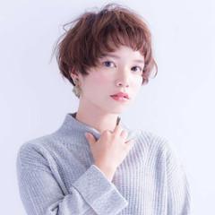 フェミニン ナチュラル ピュア ショート ヘアスタイルや髪型の写真・画像