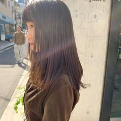 秋 透明感 ベージュ ナチュラル ヘアスタイルや髪型の写真・画像