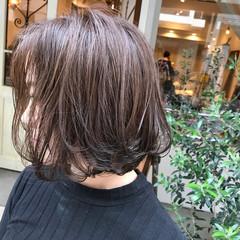 ボブ 抜け感 デート ウェットヘア ヘアスタイルや髪型の写真・画像
