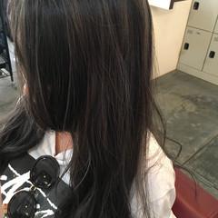 外国人風 ロング 夏 ハイライト ヘアスタイルや髪型の写真・画像