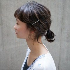 外国人風 ハイライト 切りっぱなし 抜け感 ヘアスタイルや髪型の写真・画像