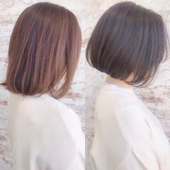 モテ髮シルエット ボブ モテ髪 イルミナカラー ヘアスタイルや髪型の写真・画像