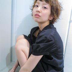 アッシュ ハイライト ショート ダブルカラー ヘアスタイルや髪型の写真・画像