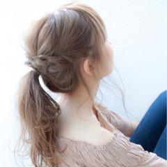 雨の日 梅雨 ヘアアレンジ ガーリー ヘアスタイルや髪型の写真・画像