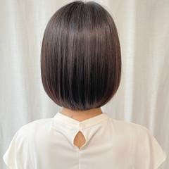 ナチュラル ショートボブ まとまるボブ 外ハネボブ ヘアスタイルや髪型の写真・画像