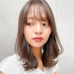 小顔ヘア くびれカール ミディアム 透明感 ヘアスタイルや髪型の写真・画像