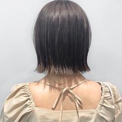 まとまるボブ 簡単スタイリング 外ハネボブ ミニボブ ヘアスタイルや髪型の写真・画像