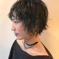 ショート かっこいい 抜け感 モード ヘアスタイルや髪型の写真・画像