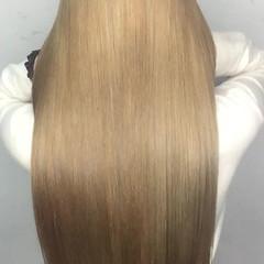 ストレート 縮毛矯正 パーマ ロング ヘアスタイルや髪型の写真・画像