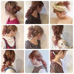 簡単ヘアアレンジ ガーリー 結婚式 デート ヘアスタイルや髪型の写真・画像