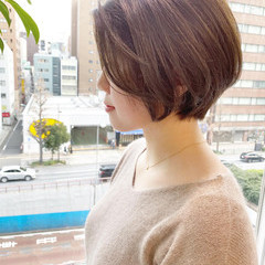 ショート ナチュラル デート ショートボブ ヘアスタイルや髪型の写真・画像