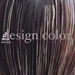 エレガント ミルクティーベージュ セミロング 大人ハイライト ヘアスタイルや髪型の写真・画像