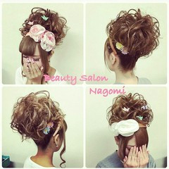 アップスタイル 結婚式 ロング 振袖 ヘアスタイルや髪型の写真・画像