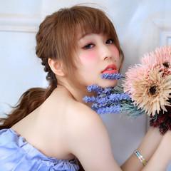ヘアアレンジ 外国人風 簡単ヘアアレンジ フェミニン ヘアスタイルや髪型の写真・画像