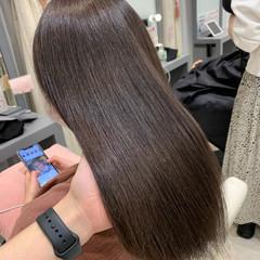 銀座美容室 透明感カラー ナチュラル セミロング ヘアスタイルや髪型の写真・画像