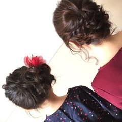 ミディアム 結婚式 デート ヘアアレンジ ヘアスタイルや髪型の写真・画像