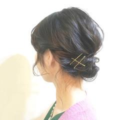 ナチュラル ポニーテール 夏 ショート ヘアスタイルや髪型の写真・画像
