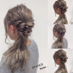 ロング イルミナカラー ハーフアップ ハイライト ヘアスタイルや髪型の写真・画像