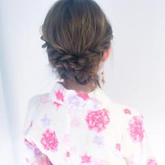 ヘアアレンジ 夏 お祭り デート ヘアスタイルや髪型の写真・画像