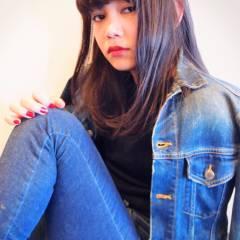 パンク 暗髪 セミロング ノームコア ヘアスタイルや髪型の写真・画像