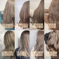 ミルクティーグレージュ ミルクティーベージュ ピンクベージュ ナチュラル ヘアスタイルや髪型の写真・画像
