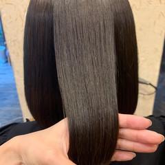 ミディアム 髪質改善 ナチュラル 髪質改善トリートメント ヘアスタイルや髪型の写真・画像