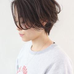 パーマ ハンサム ハイライト ハンサムショート ヘアスタイルや髪型の写真・画像