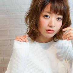 パーマ モテ髪 ガーリー 前髪あり ヘアスタイルや髪型の写真・画像