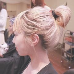 ヘアアレンジ 夏 外国人風 ショート ヘアスタイルや髪型の写真・画像