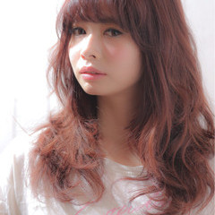 簡単 小顔 レイヤーカット ロング ヘアスタイルや髪型の写真・画像