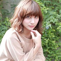 秋 ゆるふわ セミロング ナチュラル ヘアスタイルや髪型の写真・画像
